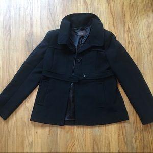 Reiss wool Capulet coat black size small